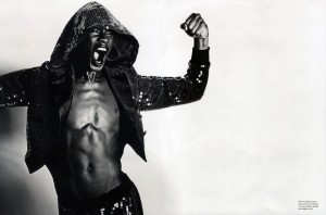 Grace Jones flexing